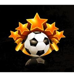 Orange sports emblem football vector