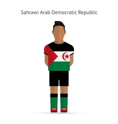 Sahrawi arab democratic republic football player vector