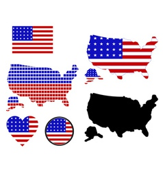 Map of america vector