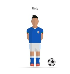 National football player italy soccer team uniform vector