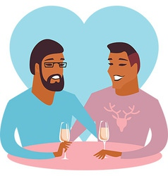 Happy gay couple vector