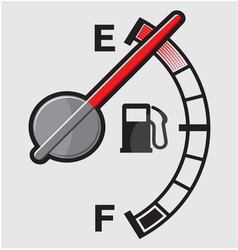 Empty gas tank indicator vector
