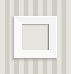 Blank square picture frame vector