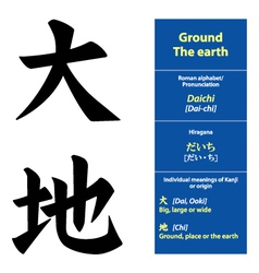 Kanji calligraphy ground vector