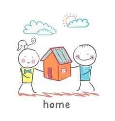 People keep house vector