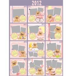 Babys monthly calendar vector