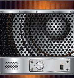 Speaker grill background vector