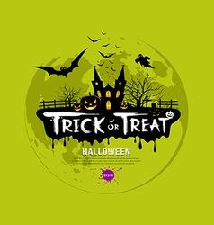Trick or treat halloween design vector