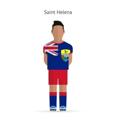 Saint helena football player soccer uniform vector