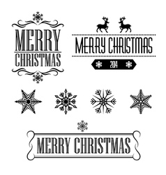 Merry christmas decorative signs and frames vector