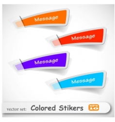 Sticker set vector