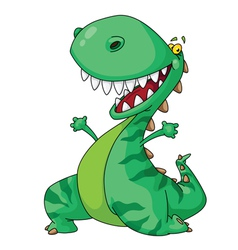 Cheerful dinosaur vector