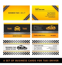 Business card taxi vector