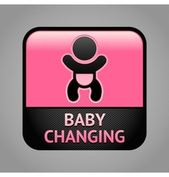 Symbol baby changing facilities vector
