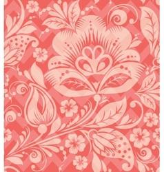 Seamless chevron floral background vector