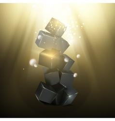 Box pyramid vector