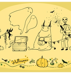Seamless halloween pattern vector