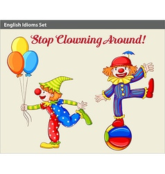 Playful clowns vector