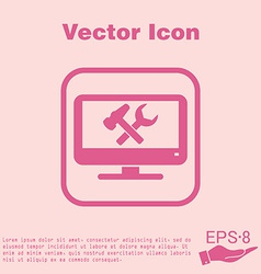 Monitor symbol settings icon computer settings vector