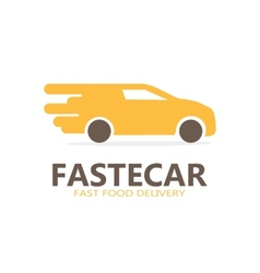 Logo of fast delivery vector