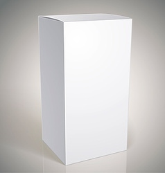 Realistic white package box for products put your vector