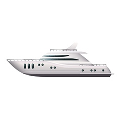 Yacht isolated vector