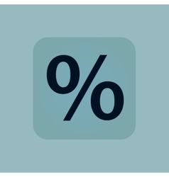 Pale blue percent icon vector