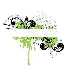 Green floral banner vector
