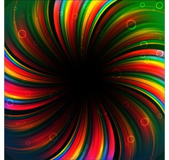 Colorful rainbow birthday banner vector
