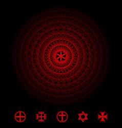 Sacred symbol vector