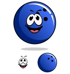 Blue bowling ball character vector