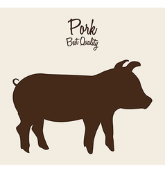 Pork meat vector
