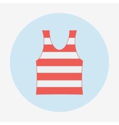 Pirate icon striped singlet flat design vector