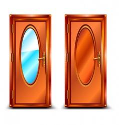 Door mirror vector