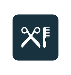 Barbershop icon rounded squares button vector
