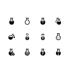 Flask icons on white background vector