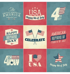 Independence day cards set vector