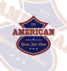 America label vector