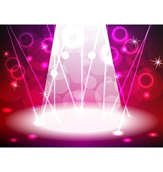 Stage with pink and red tone lights vector