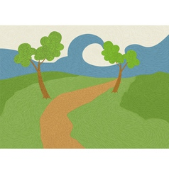 Nature stripes vector