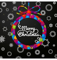 Merry christmas handwritten swirl lettering vector