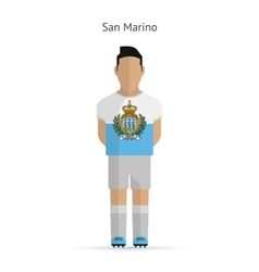 San marino football player soccer uniform vector