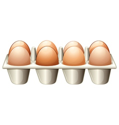 A tray with eggs vector