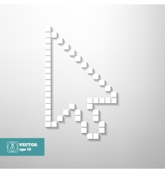 Mouse cursor isolated vector