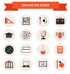 School subject icons vector