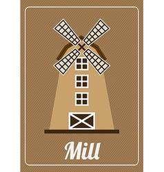 Mill bakery design vector