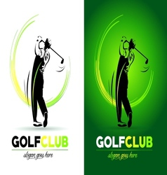 Golf logo design vector