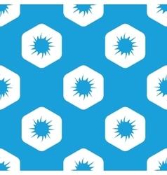 Starburst hexagon pattern vector