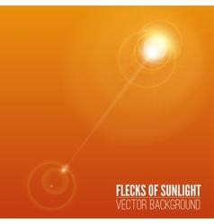 Glare of the sun vector