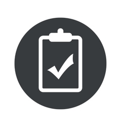 Monochrome round clipboard yes icon vector